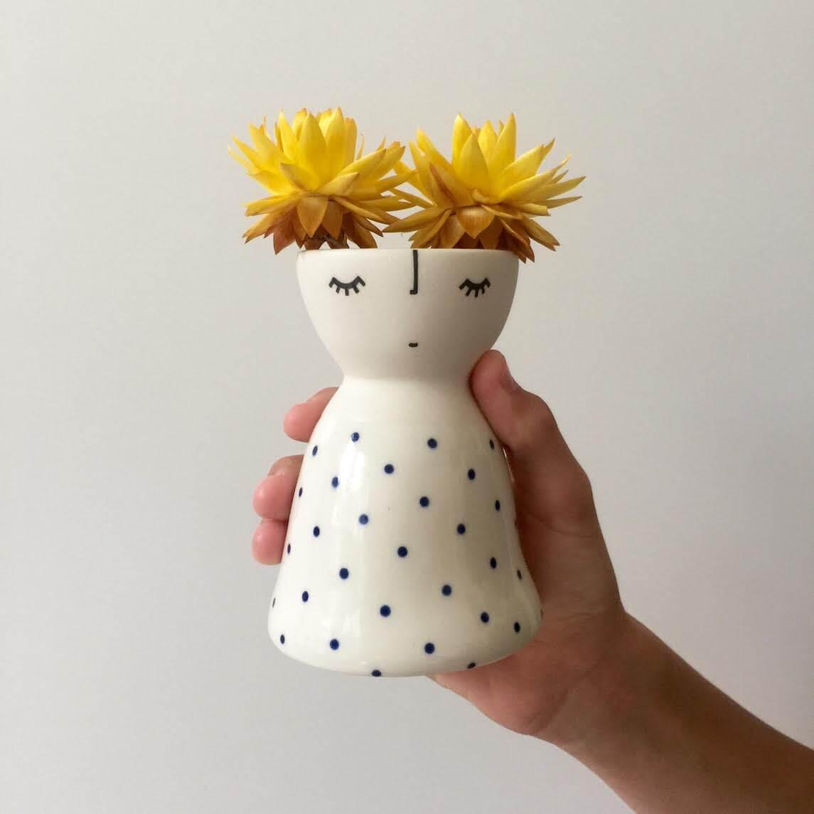 Vanessa-Bean-Shop-Ceramic-face-vase-on-The-Life-Creative